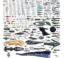 Star Trek Space Ship Size Chart Photographic Print
