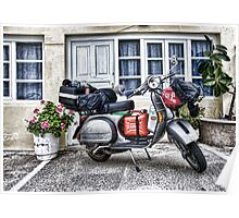 Touring by Vespa Poster