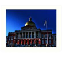 Massachusetts State House Art Print