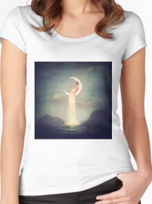 Moon River Lady Women's Fitted Scoop T-Shirt