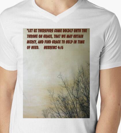 ALL WHO BELIEVE Mens V-Neck T-Shirt