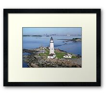 Aerial view of Boston Light Framed Print