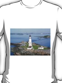Aerial view of Boston Light T-Shirt