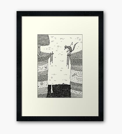 Broken Bridge Framed Print