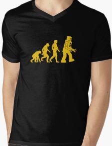 Robot Evolution Mens V-Neck T-Shirt