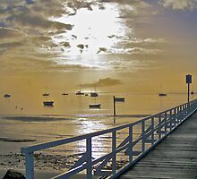 Cameron's Bight Jetty & boats by Keith Stead