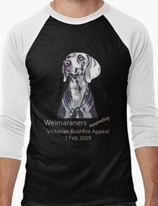 Weimaraners Supporting Bushfire Appeal. Men's Baseball ¾ T-Shirt