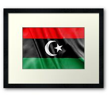 Libya Flag Framed Print
