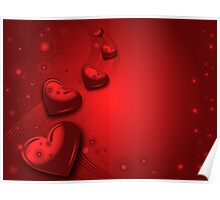 Red valentines card Poster