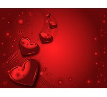 Red valentines card Photographic Print