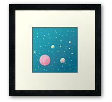 Brain Planet (8bit) Framed Print