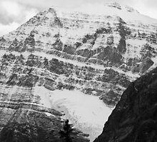 Rocky Mountains in B&W by Tiffany Vest