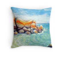 Mermaids Pool  Anderson Bay Tassie Throw Pillow