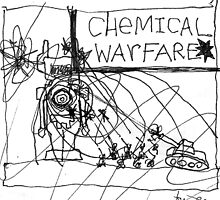 Chemical Warfare Doodle No.1 by santakaoss