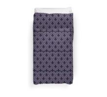 Abstract Teardrop Pattern in Purple Duvet Cover