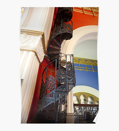 Spiral Stairs QVB Poster