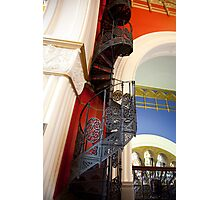 Spiral Stairs QVB Photographic Print