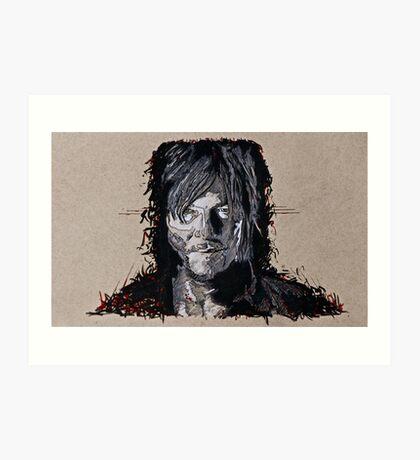 Daryl Dixon The Walking Dead Art Print