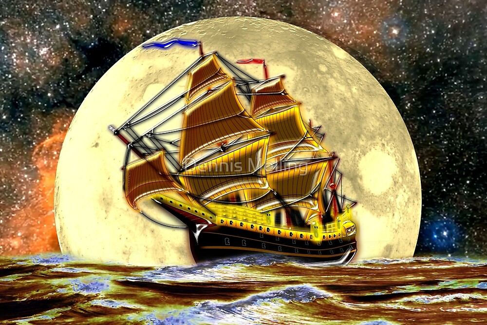 A Ghost Ship from Times Gone By Travels by Moonlight by Dennis Melling