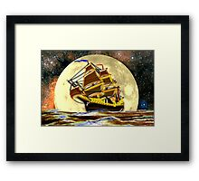 A Ghost Ship from Times Gone By Travels by Moonlight Framed Print