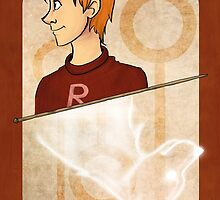 Ron Weasley Playing Card by imaginativeink