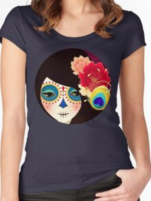 Muertita: Candy Women's Fitted Scoop T-Shirt