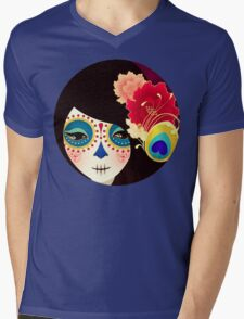 Muertita: Candy Mens V-Neck T-Shirt