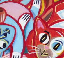 'Kitties at Play' Sticker