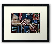 Bartender Arms with Florida Gator Tap Cover Framed Print