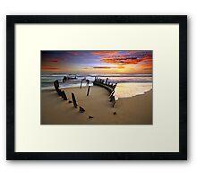 Sunrise Dicky Beach Framed Print