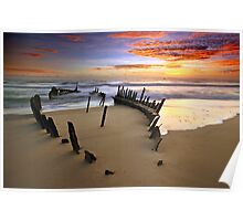 Sunrise Dicky Beach Poster