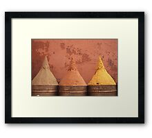 Spice cones Framed Print