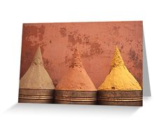 Spice cones Greeting Card