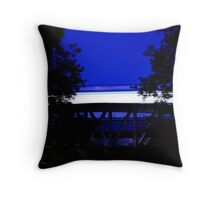 Subway crossing trees, Paris Throw Pillow