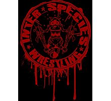 Bleeding Logo Photographic Print