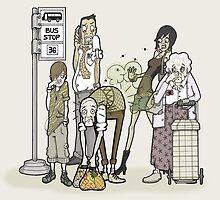 Bus stop blunder!! by MissIllustrator