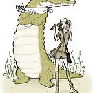 hungry croc! by MissIllustrator