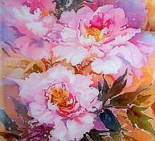 Pink peonies by etherealmist