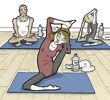 Yoga for beginners! by MissIllustrator