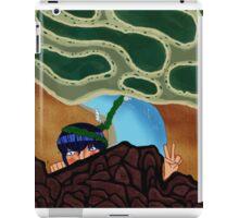 Hey future fish (2) iPad Case/Skin