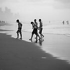 Surfers at surfers by Stephen Denham