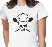 Cook chef skull Womens Fitted T-Shirt