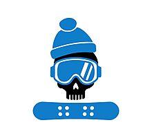 Snowboard skull Photographic Print