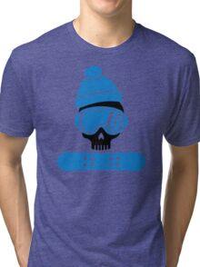 Snowboard skull Tri-blend T-Shirt
