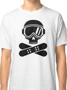 Snowboard skull goggles Classic T-Shirt
