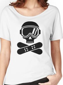 Snowboard skull goggles Women's Relaxed Fit T-Shirt