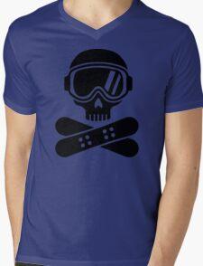 Snowboard skull goggles Mens V-Neck T-Shirt