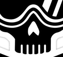 Snowboard skull goggles Sticker
