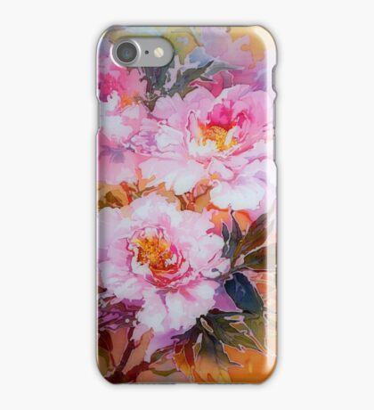 Pink peonies iPhone Case/Skin