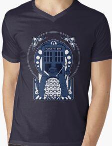 Nouveau Who Mens V-Neck T-Shirt